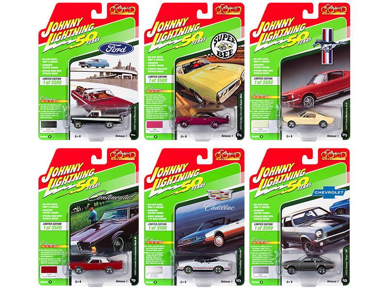 Classic Gold 2019 Release 1 Set B 6 Cars 1/64 Diecast Models Johnny Lightning JLCG019 B