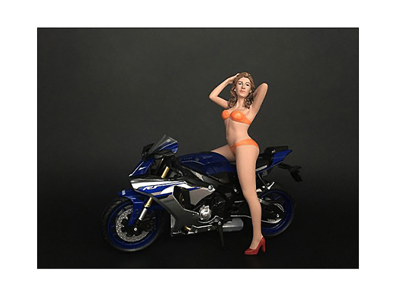 Hot Bike Model Cindy Figurine for 1/12 Scale Motorcycle Models American Diorama 38373