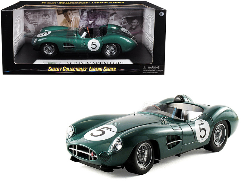 1959 Aston Martin DBR1 #5 Green 1/18 Diecast Model Car Shelby Collectibles SC106