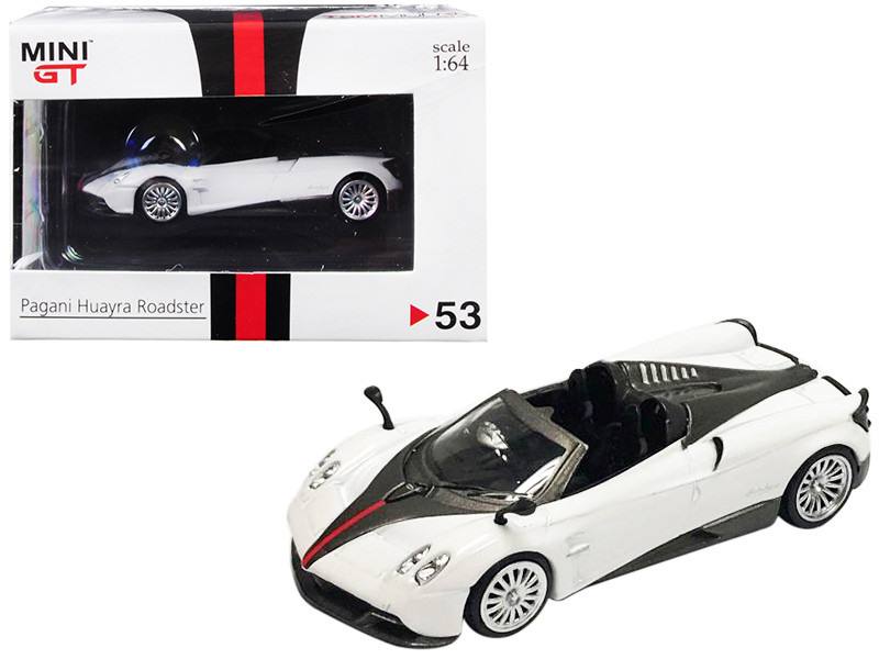 Pagani Huayra Roadster RHD Right Hand Drive White Hong Kong Exclusive 1/64 Diecast Model Car True Scale Miniatures MGT00053