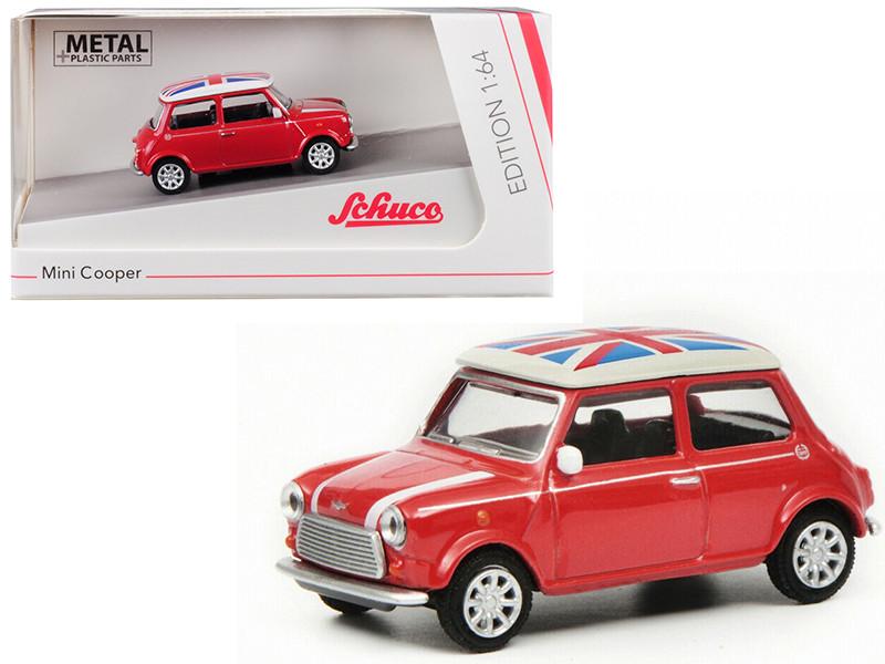 Mini Cooper Union Jack Red 1/64 Diecast Model Car Schuco 452016700