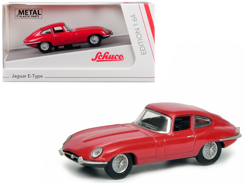 Jaguar E Type Coupe Red 1/64 Diecast Model Car Schuco 452017500
