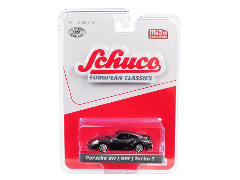Porsche 911 991 Turbo S Metallic Gray European Classics Series Limited Edition 1200 pieces Worldwide 1/64 Diecast Model Car Schuco 9000