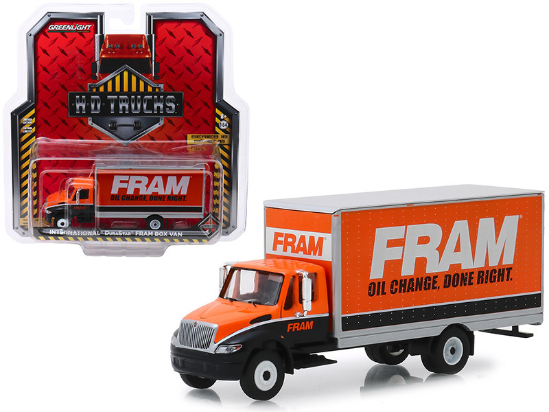 International Durastar Box Van FRAM Oil Filters HD Trucks Series 16 1/64 Diecast Model Greenlight 33160 B