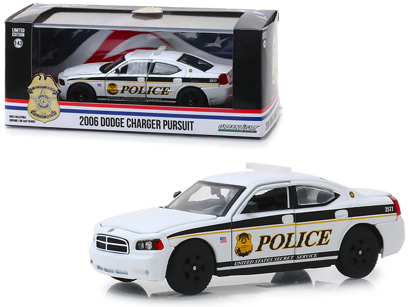 2006 Dodge Charger Pursuit United States Secret Service Police 1/43 Diecast Model Car Greenlight 86171