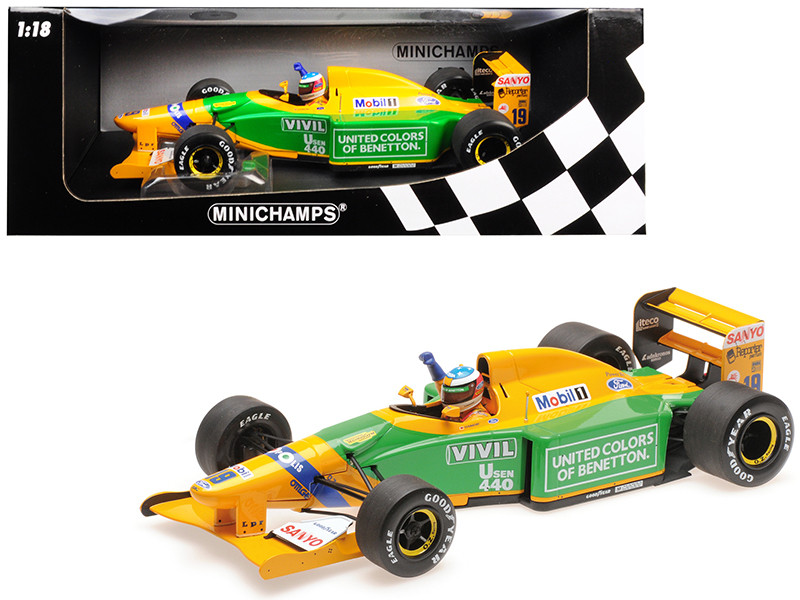 Benetton Ford B192 #19 Michael Schumacher 1st GP Victory Spa 1992 Limited Edition 1992 pieces Worldwide 1/18 Diecast Model Car Minichamps 110920019