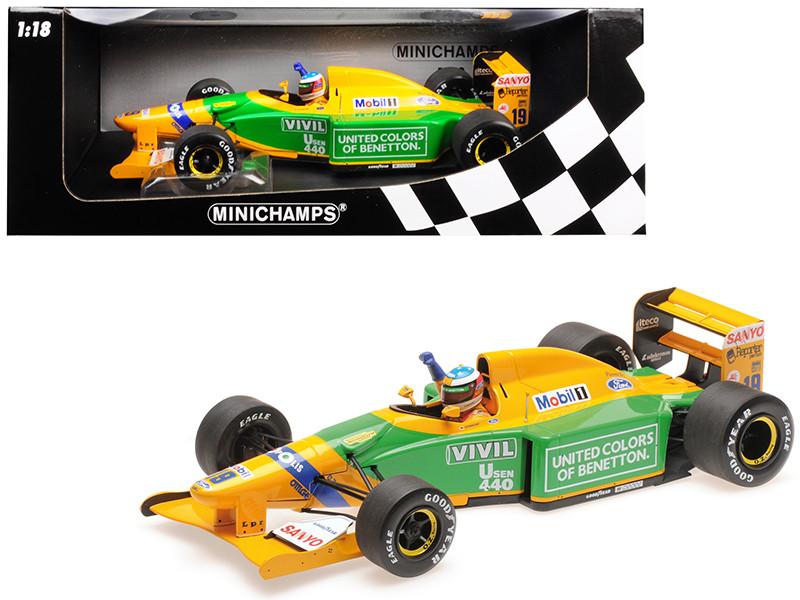 Benetton Ford B192 #19 Michael Schumacher 1st GP Victory Spa 1992 Limited Edition 1992 pieces Worldwide 1/18 Diecast Model Car Minichamps 110920019