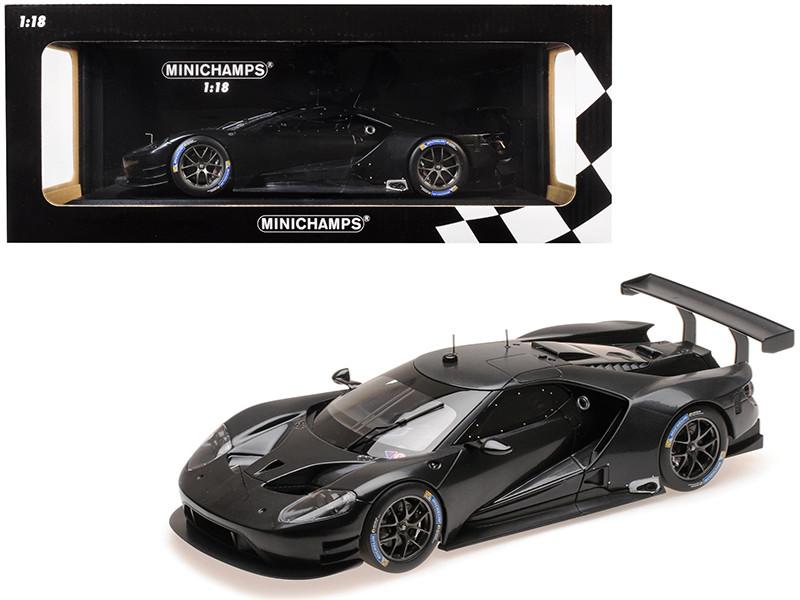 2016 Ford GT Testcar Carbon Black Limited Edition 300 pieces Worldwide 1/18 Diecast Model Car Minichamps 155168699