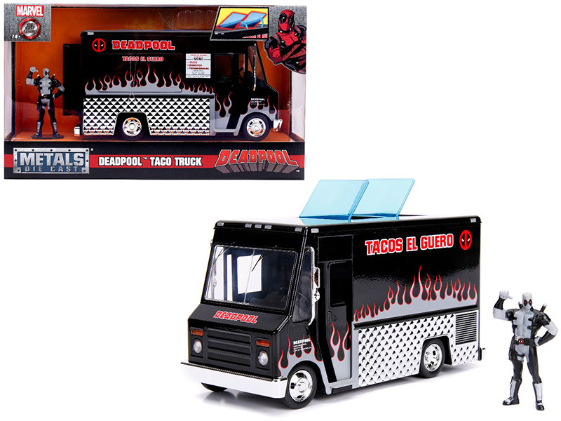 Deadpool Taco Truck Deadpool Diecast Figure Black Version Marvel Series Diecast Model Jada 30540