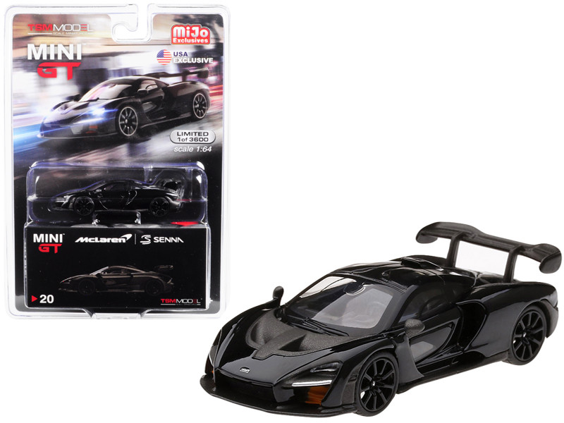 McLaren Senna Onyx Black Limited Edition 3600 pieces Worldwide 1/64 Diecast Model Car True Scale Miniatures MGT00020