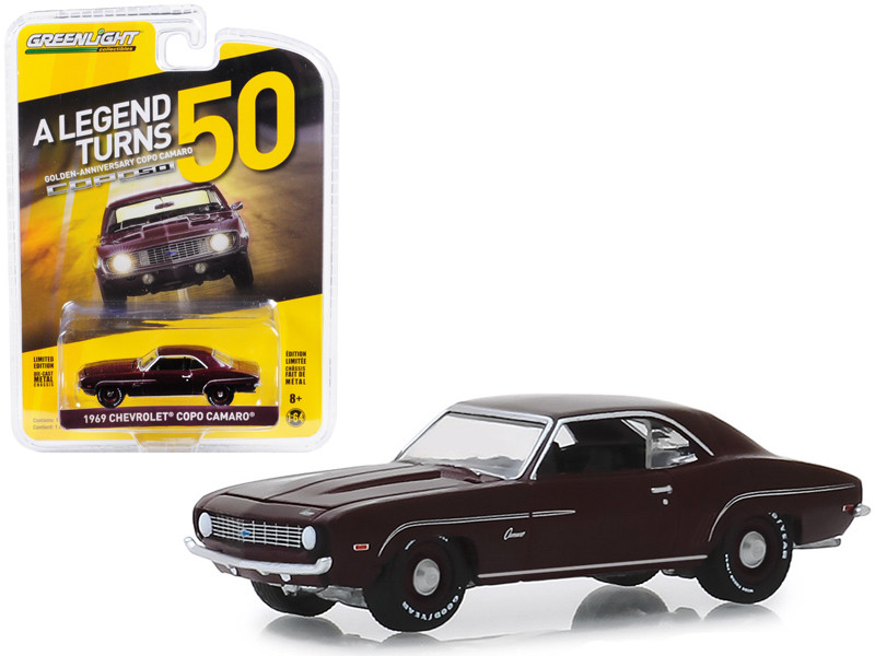 1969 Chevrolet COPO Camaro COPO Turns 50 Burgundy Anniversary Collection Series 8 1/64 Diecast Model Car Greenlight 27980 A