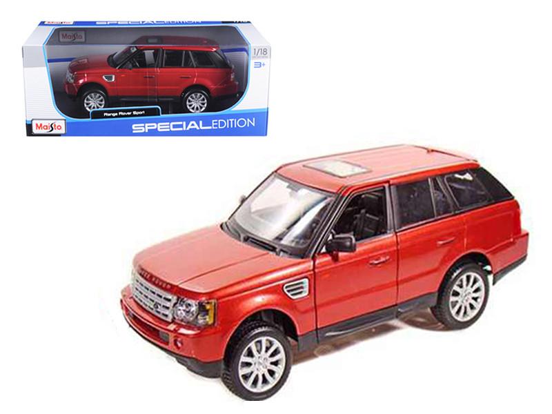 Range Rover Sport Metallic Red 1/18 Diecast Model Car by Maisto