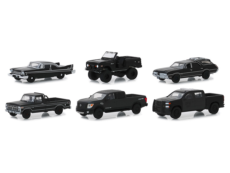 Black Bandit Series 21 6 piece Set 1/64 Diecast Model Cars Greenlight 27990