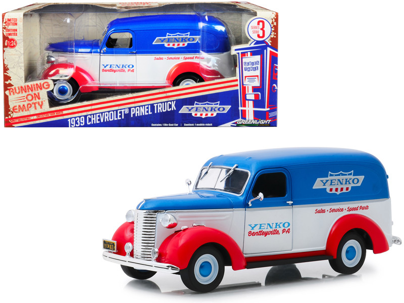 1939 Chevrolet Panel Truck Yenko Sales and Service Running on Empty Series 3 1/24 Diecast Model Car Greenlight 85041