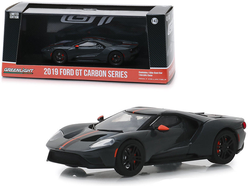 2019 Ford GT Carbon Series Orange Accents 1/43 Diecast Model Car Greenlight 86160