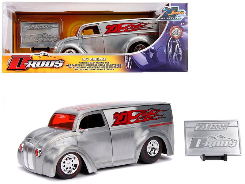 Div Cruizer Van Metal Raw D-Rods Jada 20th Anniversary 1/24 Diecast Model Car Jada 31078
