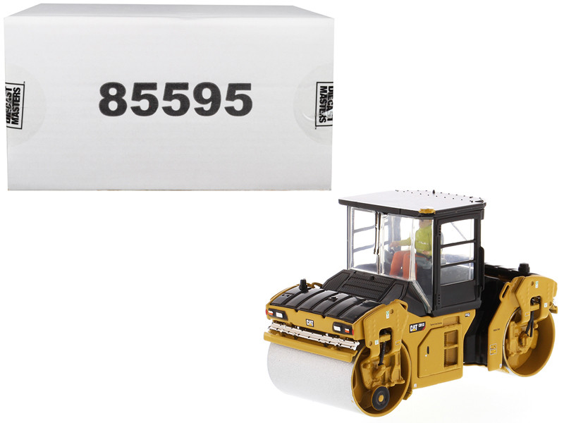 CAT Caterpillar CB-13 Tandem Vibratory Roller Cab and Operator High Line Series 1/50 Diecast Model Diecast Masters 85595