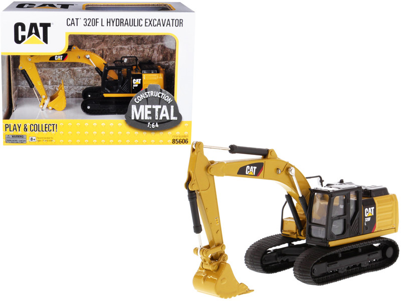 CAT Caterpillar 320F L Hydraulic Tracked Excavator 1/64 Diecast Model by Diecast Masters