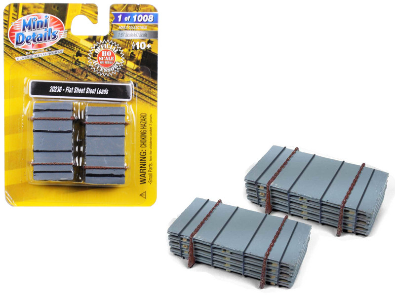 Flat Sheet Steel Loads 2 piece Accessory Set for 1/87 HO Scale Models Classic Metal Works 20236