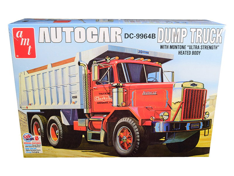 Skill 3 Model Kit Autocar DC-9964B Dump Truck 1/25 Scale Model AMT AMT1150