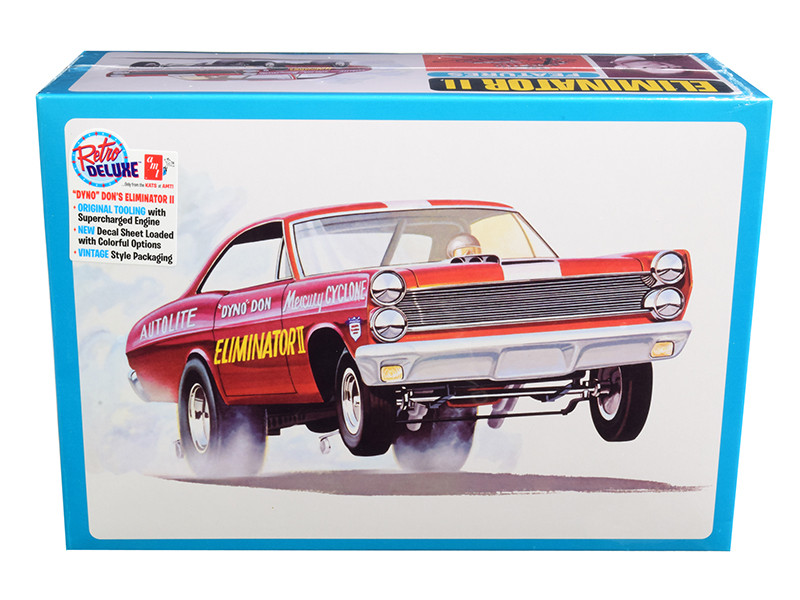 Skill 2 Model Kit Mercury Cyclone Funny Drag Car Dyno Don Nicholson's Eliminator II 1/25 Scale Model AMT AMT1151