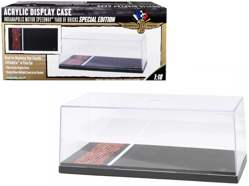 Special Edition Collectible Display Show Case 1/18 Car Models Plastic Base Yard of Bricks Indianapolis Motor Speedway Greenlight 55021