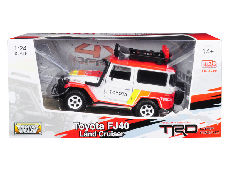 Toyota FJ 40 Land Cruiser TRD White Limited Edition 2400 pieces Worldwide 1/24 Diecast Model Car Motormax 79137