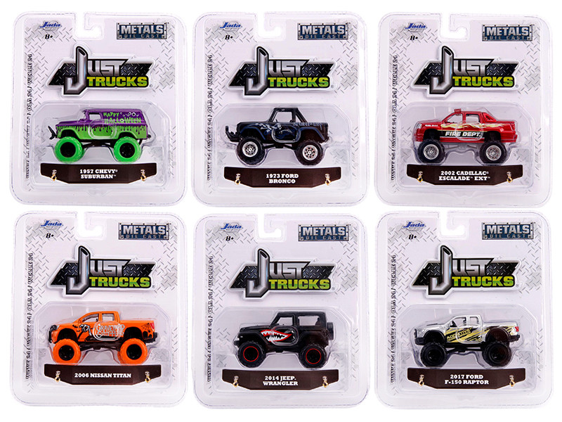 Just Trucks Set of 6 Trucks Series 24 1/64 Diecast Model Cars Jada 14020-W24