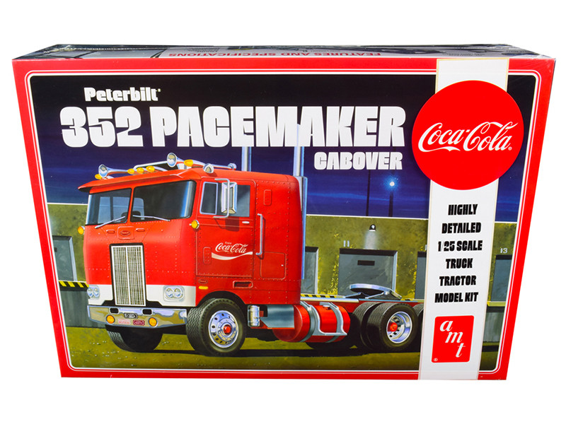 Skill 3 Model Kit Peterbilt 352 Pacemaker Cabover Truck Coca Cola 1/25 Scale Model AMT AMT1090