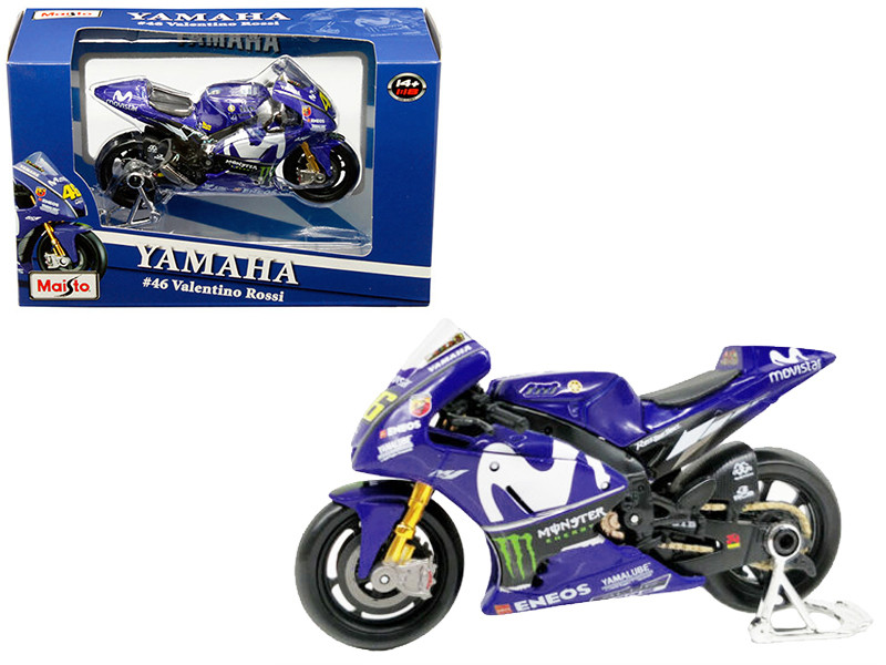 1:18 Maisto MOTOGP2018 Yamaha YZR M1#46 Valentino Rossi Diecast Motorcycle Model