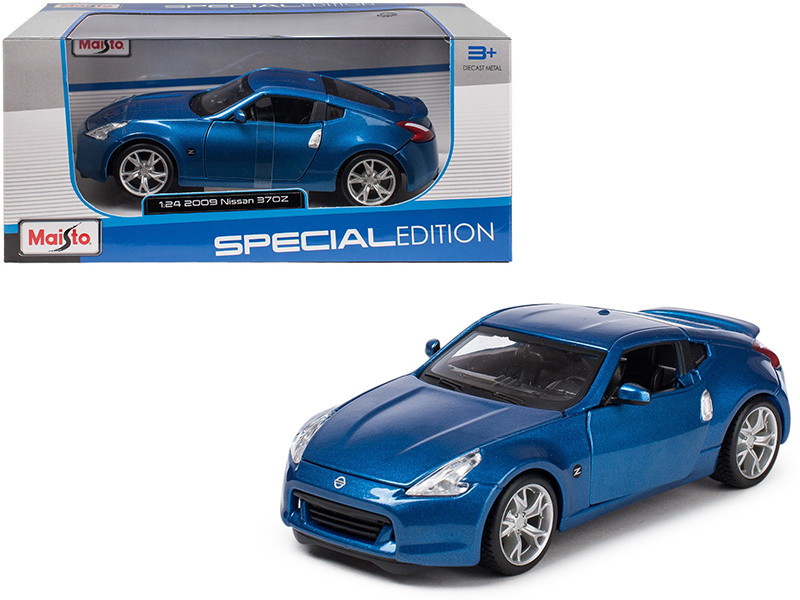 2009 Nissan 370Z Metallic Blue 1/24 Diecast Model Car Maisto 31200