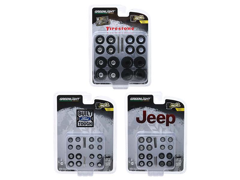 Wheel & Tire Packs Series 1 Set 3 Multipacks 1/64 Greenlight 16010