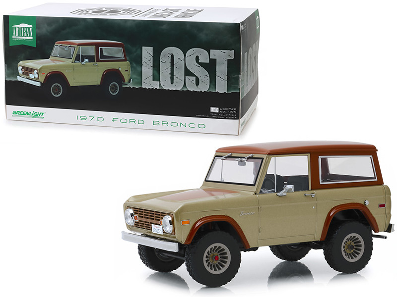 1970 Ford Bronco Tan Brown Lost 2004 2010 TV Series 1/18 Diecast Model Car Greenlight 19057