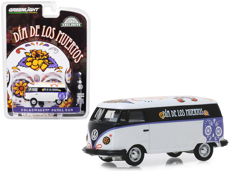 Volkswagen Panel Van Dia de los Muertos Day of the Dead Hobby Exclusive 1/64 Diecast Model Greenlight 30040