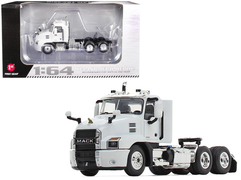 Mack Anthem Day Cab Tractor Truck Arctic White 1/64 Diecast Model First Gear 60-0595