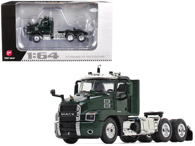 Mack Anthem Day Cab Tractor Truck Mountain Green 1/64 Diecast Model by First Gear