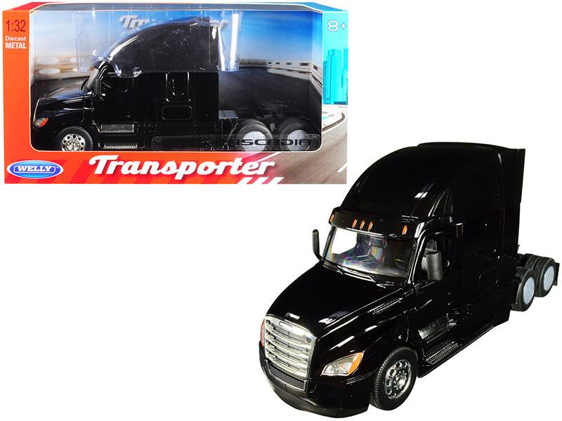 Freightliner Cascadia Truck Black Transporter 1/32 Diecast Model Welly 32695