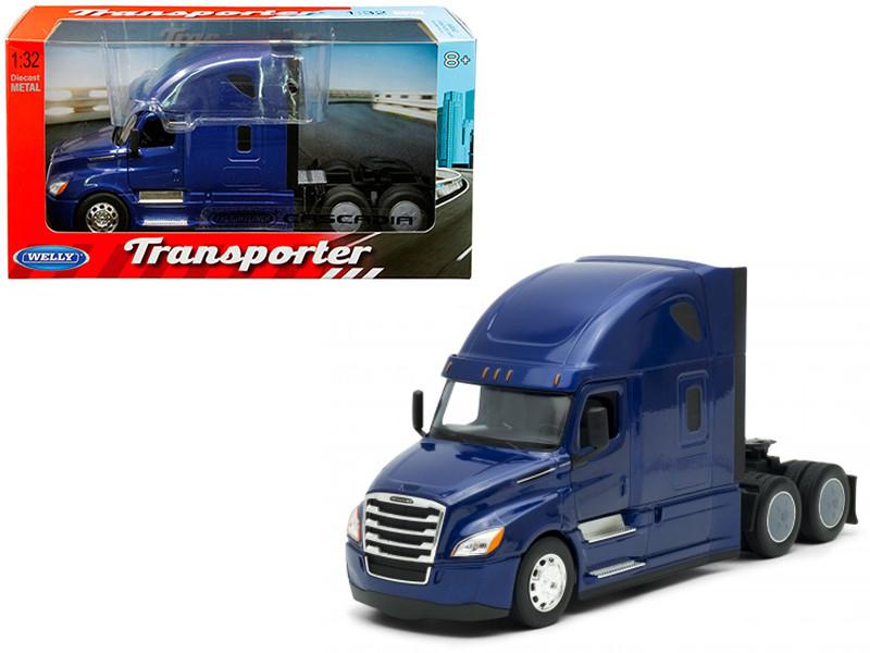 Freightliner Cascadia Truck Blue Transporter 1/32 Diecast Model Welly 32695