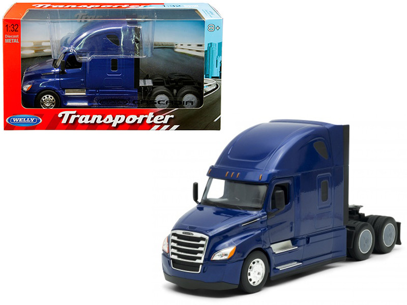 Freightliner Cascadia Truck Blue Transporter 1/32 Diecast Model Welly 32695