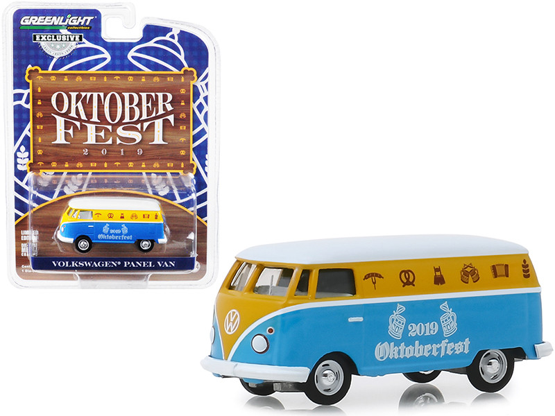 Volkswagen Panel Van Oktoberfest 2019 Hobby Exclusive 1/64 Diecast Model Greenlight 30045
