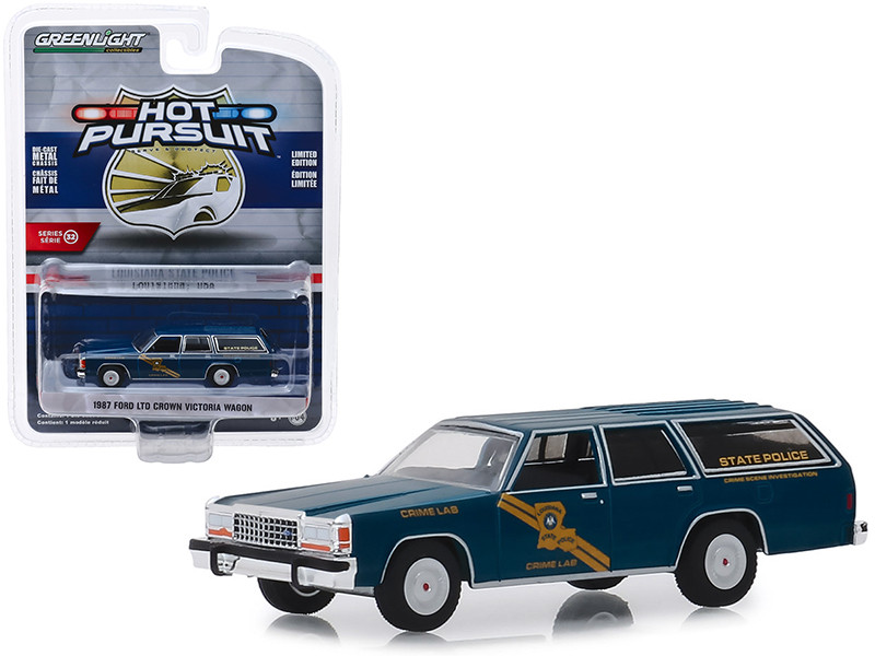 1987 Ford LTD Crown Victoria Wagon Louisiana State Police Crime Scene Investigation Crime Lab Hot Pursuit Series 32 1/64 Diecast Model Car Greenlight 42890 B