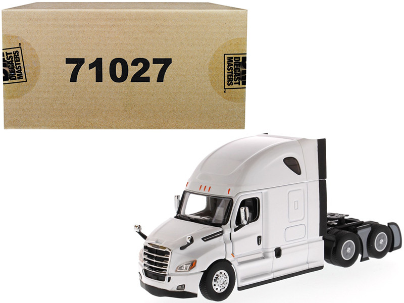 Freightliner New Cascadia Sleeper Cab Truck Tractor Pearl White 1/50 Diecast Model Diecast Masters 71027