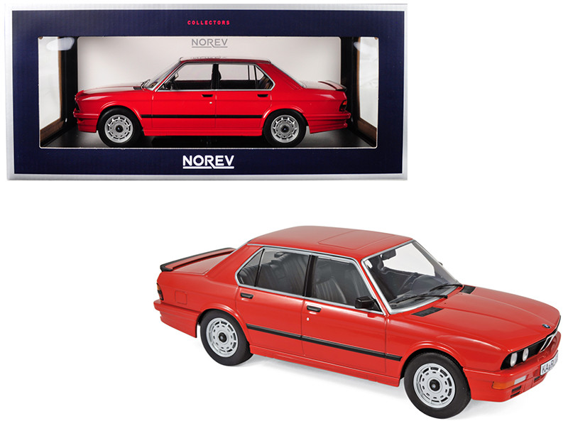 1986 BMW M535i Red 1/18 Diecast Model Car Norev 183262