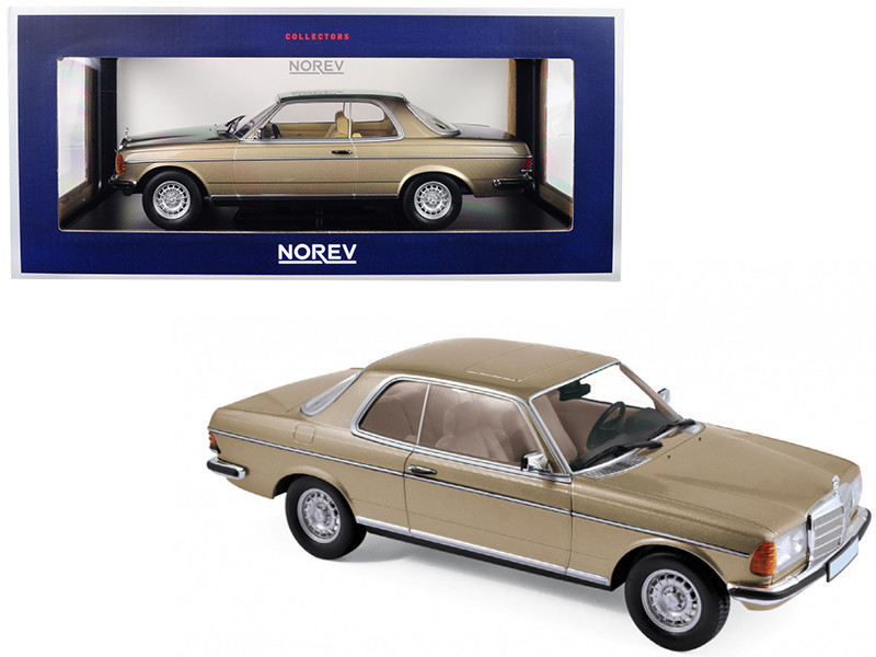 1980 Mercedes Benz 280 CE Champagne Metallic 1/18 Diecast Model Car Norev 183702