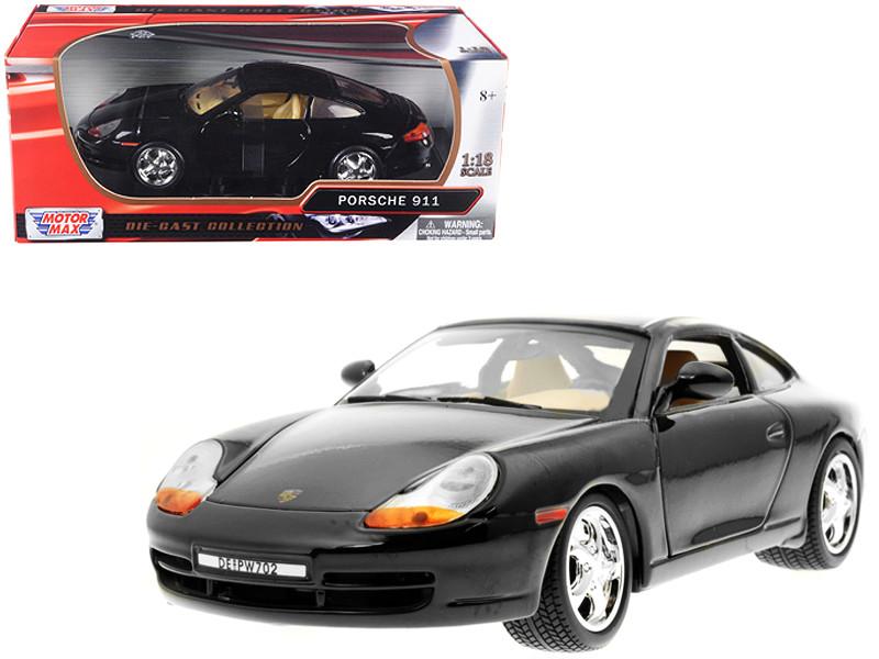 Porsche 911 Carrera Black 1/18 Diecast Model Car Motormax 73101