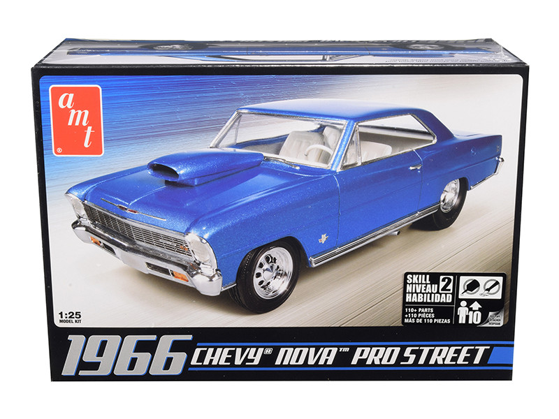 Skill 2 Model Kit 1966 Chevrolet Nova Pro Street 1/25 Scale Model AMT AMT636