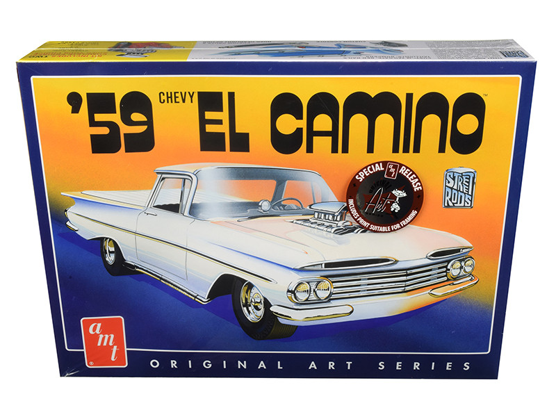 Skill 2 Model Kit 1959 Chevrolet El Camino 2 in 1 Kit Original Art Series 1/25 Scale Model AMT AMT1058