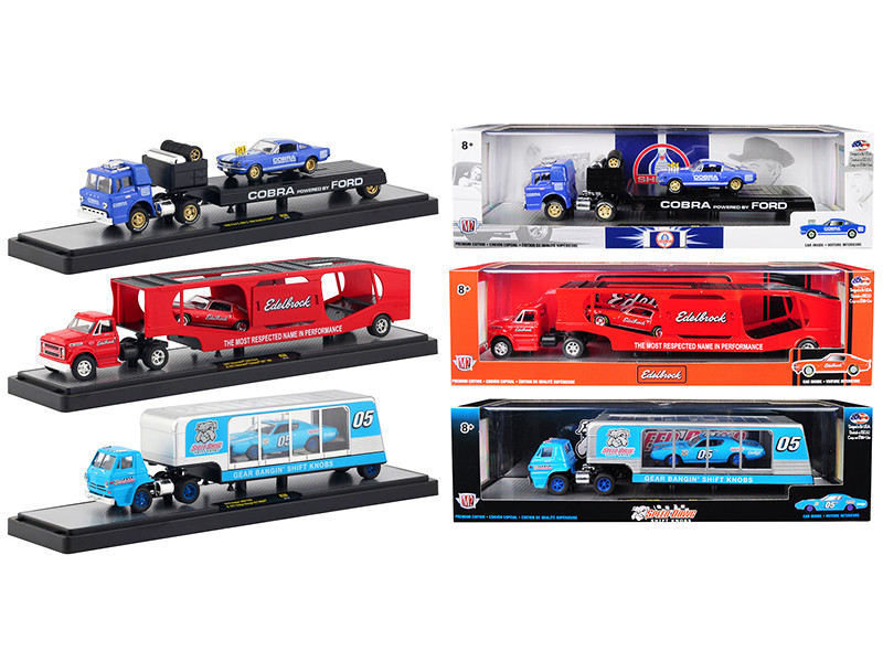 Auto Haulers Release 36 Set of 3 Trucks Limited Edition 5880 pieces Worldwide 1/64 Diecast Models M2 Machines 36000-36