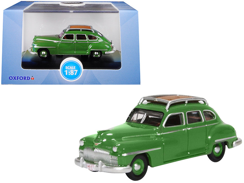 1946 1948 DeSoto Suburban Roof Rack Noel Green 1/87 HO Scale Diecast Model Car Oxford Diecast 87DS46001
