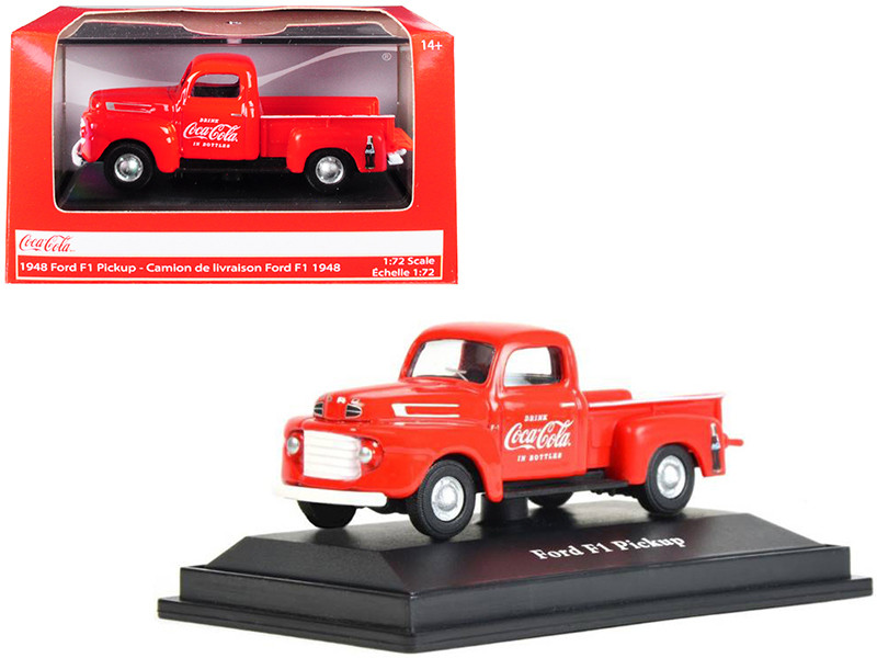 1948 Ford F1 Pickup Truck Coca Cola Red 1/72 Diecast Model Car Motorcity Classics 472001